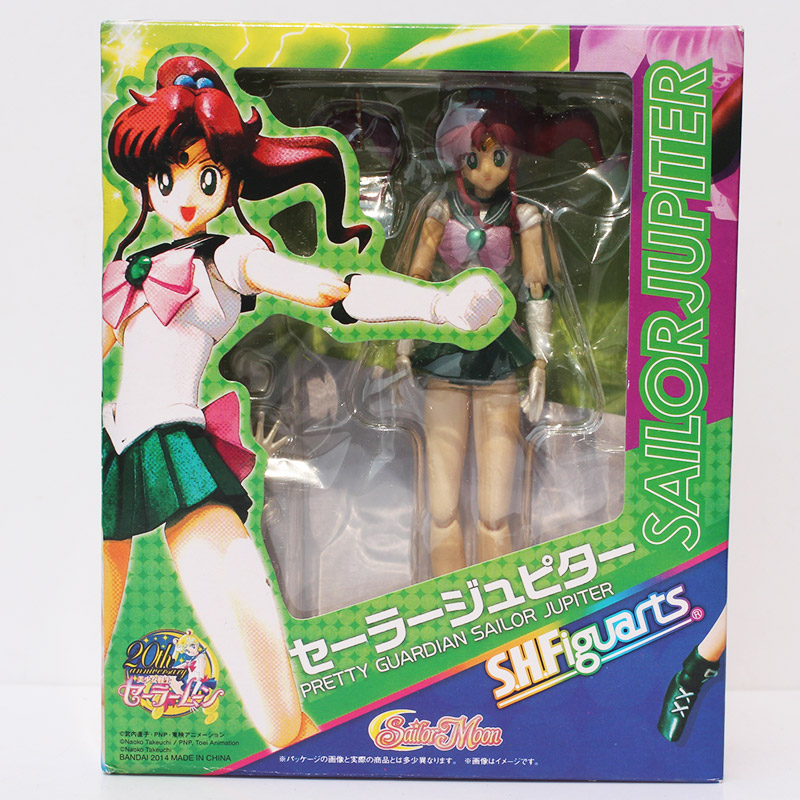 SHFiguart Sailor Moon Anime Jüpiter Kutulu Action Figure Koleksiyon Model Oyuncak