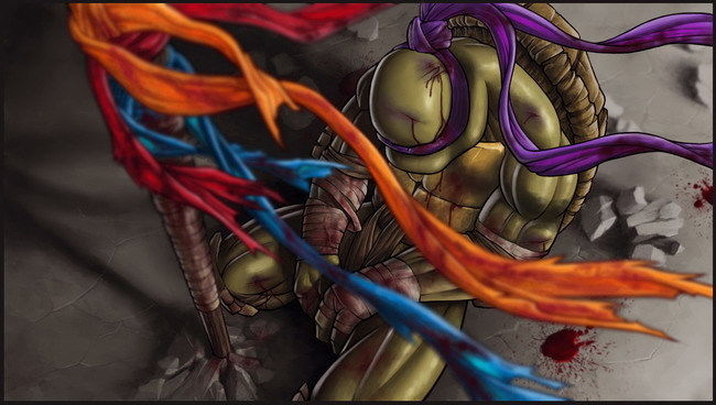 015 Teenage Mutant Ninja Turtles-TMNT Anime Sanat 25 x 14 Afiş